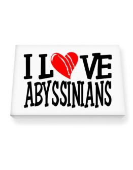 I Love Abyssinians - Scratched Heart Canvas square