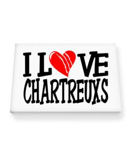 I Love Chartreuxs - Scratched Heart Canvas square