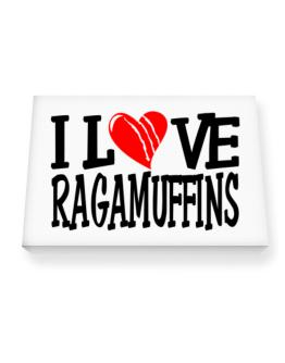 I Love Ragamuffins - Scratched Heart Canvas square