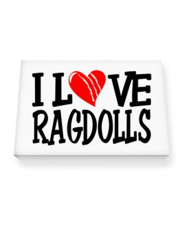 I Love Ragdolls - Scratched Heart Canvas square