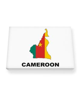 Cameroon - Country Map Color Canvas square