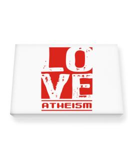 Love Atheism Canvas square
