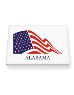 Flag Usa Alabama Canvas square