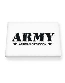 Army African Orthodox Canvas square