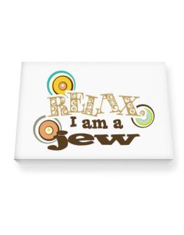 Relax, I Am A Jew Canvas square