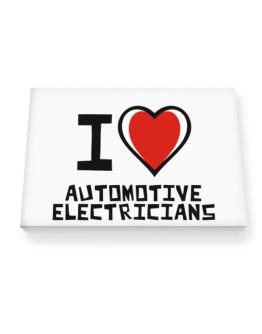 I Love Automotive Electricians Canvas square