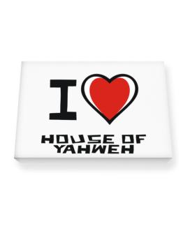 I Love House Of Yahweh Canvas square