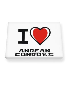 I Love Andean Condors Canvas square