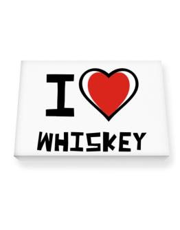 I Love Whiskey Canvas square