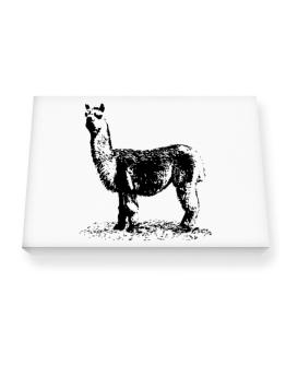 Alpaca sketch Canvas square