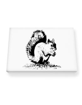 Squirrel sketch Canvas square