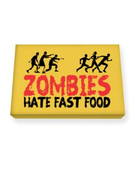 Zombies hate fast food Canvas square