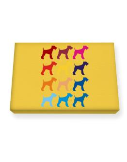 Colorful Fox Terrier Canvas square