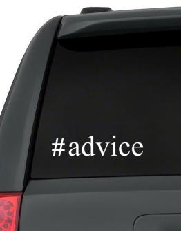 #Advice - Hashtag Decal Pack