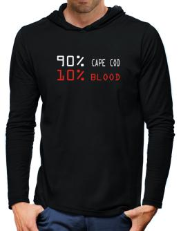 90% Cape Cod 10% Blood Hooded Long Sleeve T-Shirt-Mens