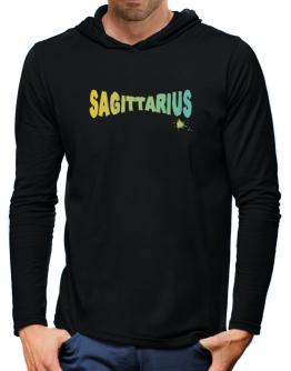 Sagittarius Hooded Long Sleeve T-Shirt-Mens