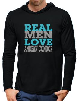 Real Men Love Andean Condor Hooded Long Sleeve T-Shirt-Mens