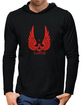 Alaster - Wings Hooded Long Sleeve T-Shirt-Mens