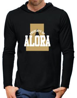 Property Of Alora Hooded Long Sleeve T-Shirt-Mens
