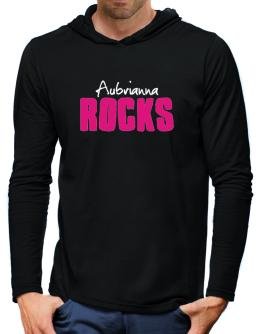 Aubrianna Rocks Hooded Long Sleeve T-Shirt-Mens
