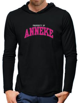 Property Of Anneke Hooded Long Sleeve T-Shirt-Mens
