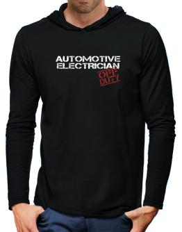 Automotive Electrician - Off Duty Hooded Long Sleeve T-Shirt-Mens