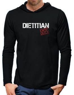 Dietitian - Off Duty Hooded Long Sleeve T-Shirt-Mens