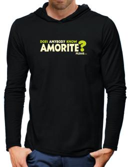 Does Anybody Know Amorite? Please... Hooded Long Sleeve T-Shirt-Mens