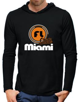 Miami - State Hooded Long Sleeve T-Shirt-Mens
