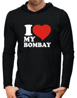 I Love My Bombay Hooded Long Sleeve T-Shirt-Mens