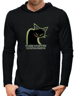 Pussy Whipped By My California Spangled Cat Hooded Long Sleeve T-Shirt-Mens