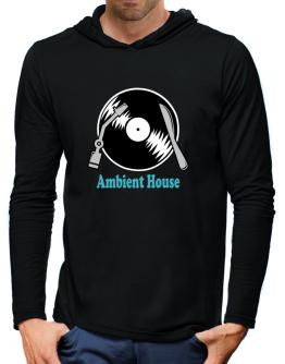 Ambient House - Lp Hooded Long Sleeve T-Shirt-Mens