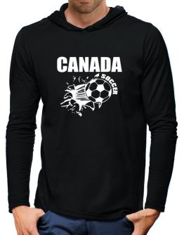 All Soccer Canada Hooded Long Sleeve T-Shirt-Mens