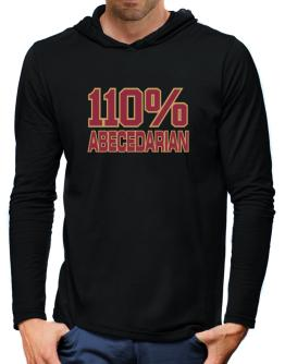 110% Abecedarian Hooded Long Sleeve T-Shirt-Mens