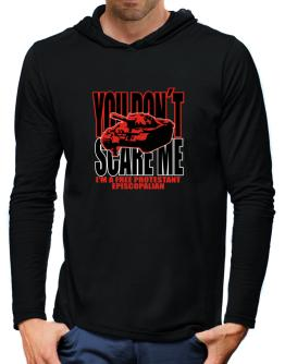 Dont Scare Me Hooded Long Sleeve T-Shirt-Mens