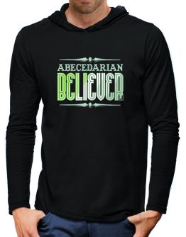 Abecedarian Believer Hooded Long Sleeve T-Shirt-Mens