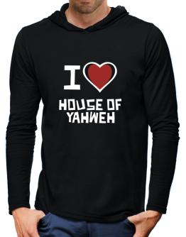 I Love House Of Yahweh Hooded Long Sleeve T-Shirt-Mens