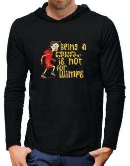 Being A Panel Beater Is Not For Wimps Hooded Long Sleeve T-Shirt-Mens