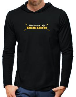 Powered By Duluth Hooded Long Sleeve T-Shirt-Mens