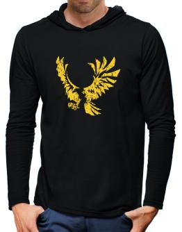 Eagle With Open Wings Hooded Long Sleeve T-Shirt-Mens