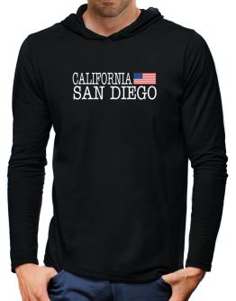 San Diego State Hooded Long Sleeve T-Shirt-Mens