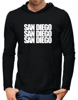 San Diego three words Hooded Long Sleeve T-Shirt-Mens