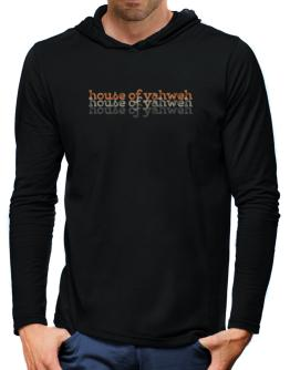 House Of Yahweh repeat retro Hooded Long Sleeve T-Shirt-Mens