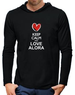Keep calm and love Alora chalk style Hooded Long Sleeve T-Shirt-Mens