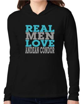Real Men Love Andean Condor Hooded Long Sleeve T-Shirt Women