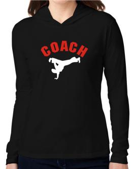 Capoeira Coach Hooded Long Sleeve T-Shirt Women