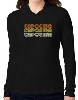 Capoeira Retro Color Hooded Long Sleeve T-Shirt Women