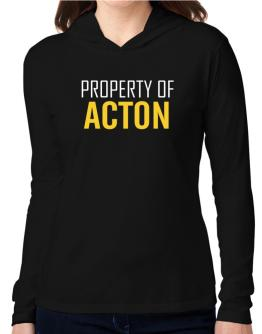 Property Of Acton Hooded Long Sleeve T-Shirt Women