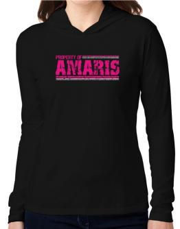 Property Of Amaris - Vintage Hooded Long Sleeve T-Shirt Women