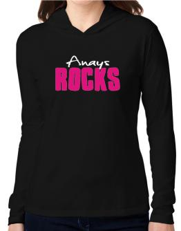 Anays Rocks Hooded Long Sleeve T-Shirt Women